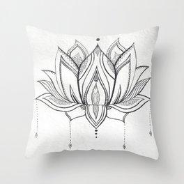 Handmade Mandala Lotus Throw Pillow