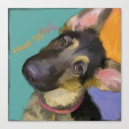 Head Tilt Canvas Print
