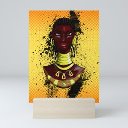 Mahink - L'Afro Queen by Sly Mido Mini Art Print