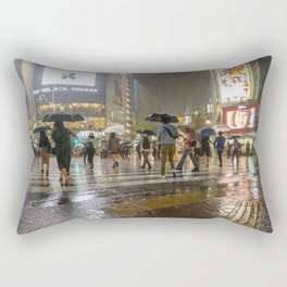 Rainy Night Tokyo Rectangular Pillow