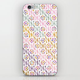 Colorful Floral Pattern iPhone Skin