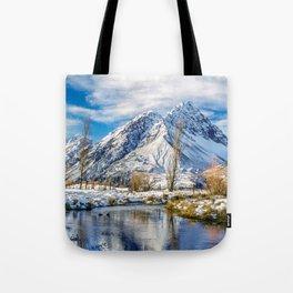 Mount Burnett Tote Bag