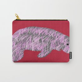 Pink Manatee Carry-All Pouch