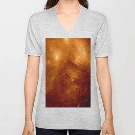 Copper Galaxy Nebula : The Seven Sister Pleiades Unisex V-Neck