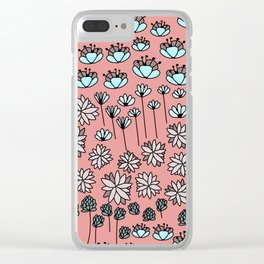 Fresh flowes Clear iPhone Case