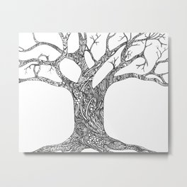 Tree Doodle Metal Print
