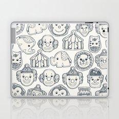 circus cookies indigo ivory Laptop & iPad Skin