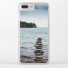 All Stacked Clear iPhone Case