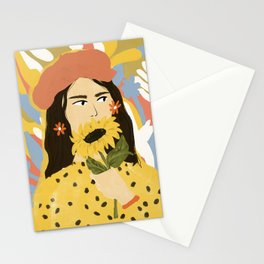 Sunflowers In Your Face Stationery Cards