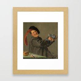 """Judith Leyster """"The Jolly Drinker"""" Framed Art Print"""