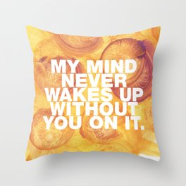 SUNDAYS ARE FOR SOULMATES / My mind Throw Pillow
