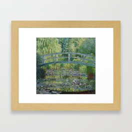 Claude Monet The Japanese Footbridge and the Waterlily Pool at Giverny 1899 Framed Art Print