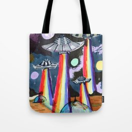 rainbow ufo Tote Bag