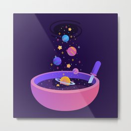 Macrocosmic Cereal Metal Print