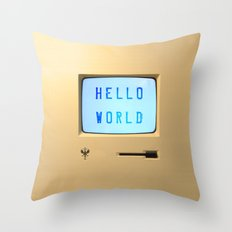 Hello World Personal Computer Throw Pillow