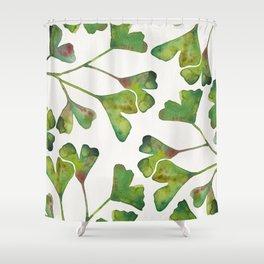 Ginkgo Biloba – Green Shower Curtain