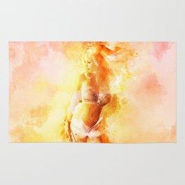 The Girl with the Sun in Her Hair VIII Rug