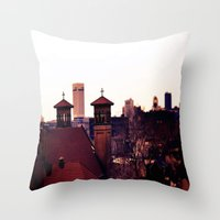 religion Throw Pillows featuring Cleveland Religion by Toni Tylicki