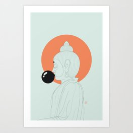 Buddha : Concentrate on the Void! Art Print