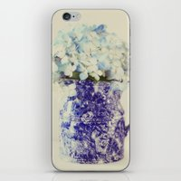 hydrangea iPhone & iPod Skins featuring Hydrangea by Beverly LeFevre