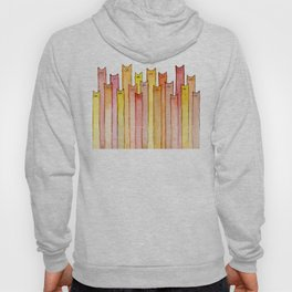 Cats Autumn Colors Pattern Whimsical Cat Orange Red Yellow Animals Hoody