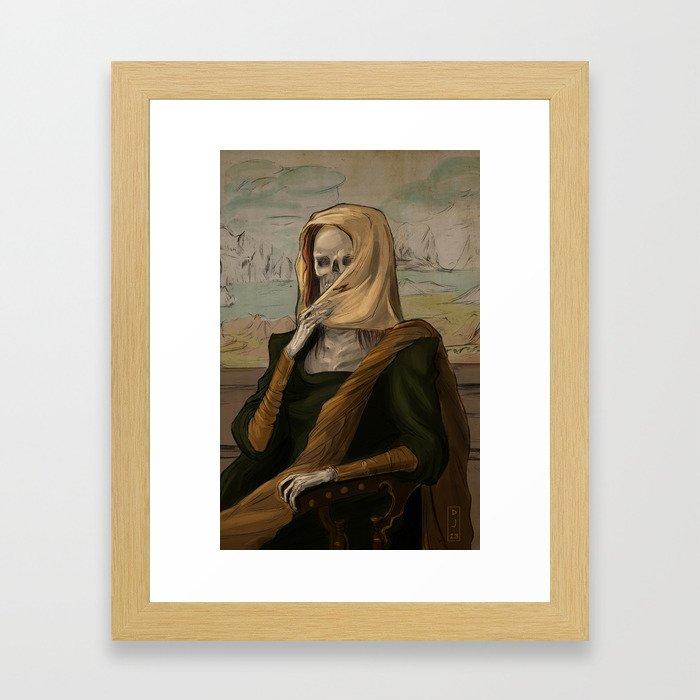 Death like Smile Framed Art Print