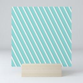 Sea Wave Diagonal Stripe Mini Art Print
