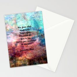 Challenging Fear Rumi Uplifting Quote With Beautiful Underwater Painting Stationery Cards