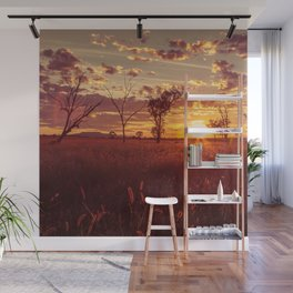 As the Sun Sets in the Heartland Wall Mural