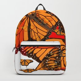 ORANGE MONARCH BUTTERFLIES ON WHITE FROM SOCIETY6 BY SHARLES ART Backpack