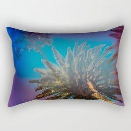 Blue Sky and Palm Trees Rectangular Pillow
