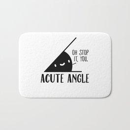 Acute Angle Math Pun Bath Mat