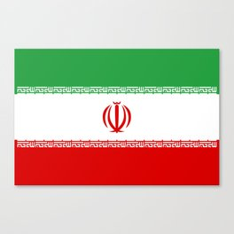 National flag of the Islamic Republic of Iran - Authentic version Canvas Print