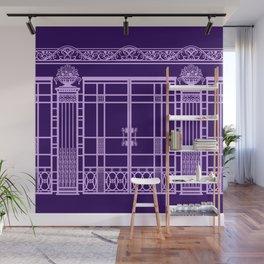 ART DECO, ART NOUVEAU IRONWORK: Parisian Purple Wall Mural