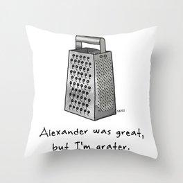 Alexander was Great Throw Pillow