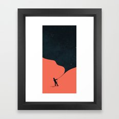 Night fills up the sky Framed Art Print