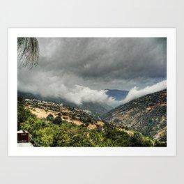 Nubes y tinieblas Art Print