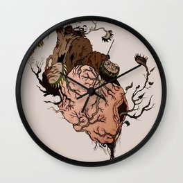 Carnivorous Plant Heart Wall Clock