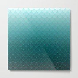 Ombre mermaid scales Metal Print