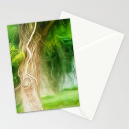 Dream Light Green Tree Stationery Cards