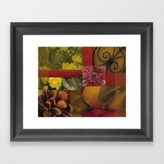 Flowers & Fruit Framed Art Print