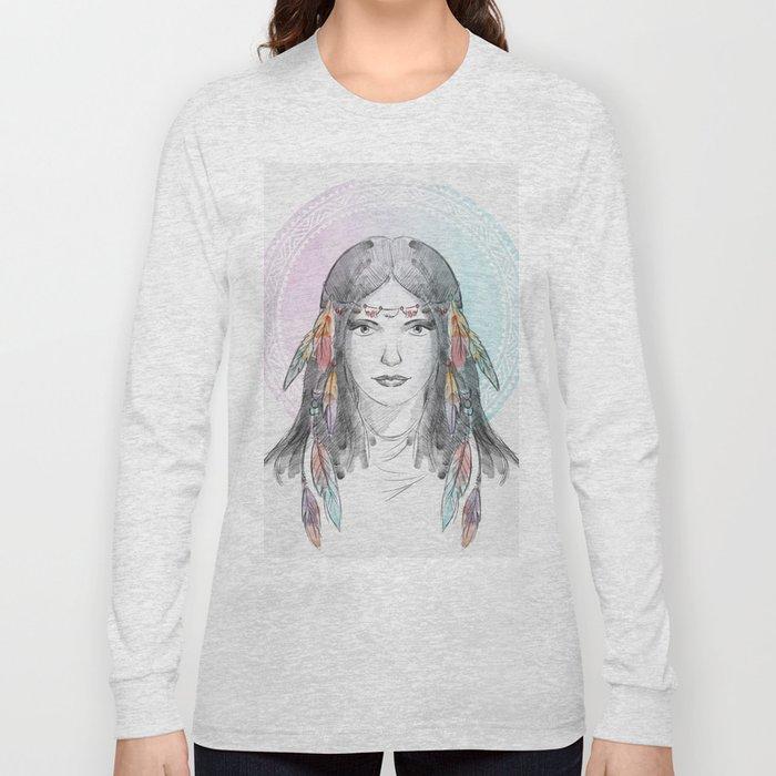 watercolor godess Long Sleeve T-shirt