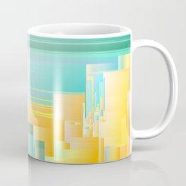 Ice Ice Baby - Abstract Glitch Pixel Art Coffee Mug