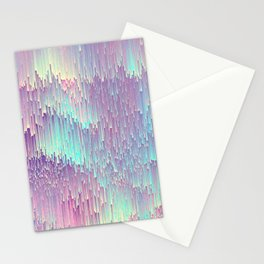 Iridescent Glitches Stationery Cards