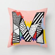 M for ... Throw Pillow