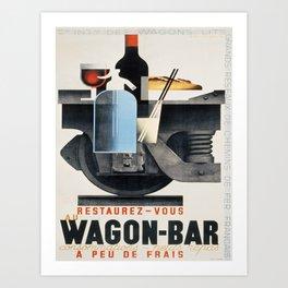 Vintage poster - Wagon-Bar Art Print