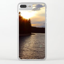 Sunset at Concord's Walden Pond 3 Clear iPhone Case