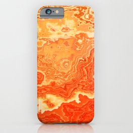 coral orange beige gold abstract marbled abstract digital painting iPhone Case