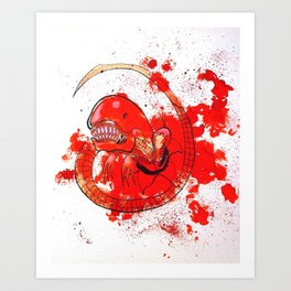 Alien chestbursting Art Print