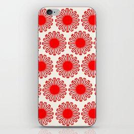 vintage flowers red iPhone Skin